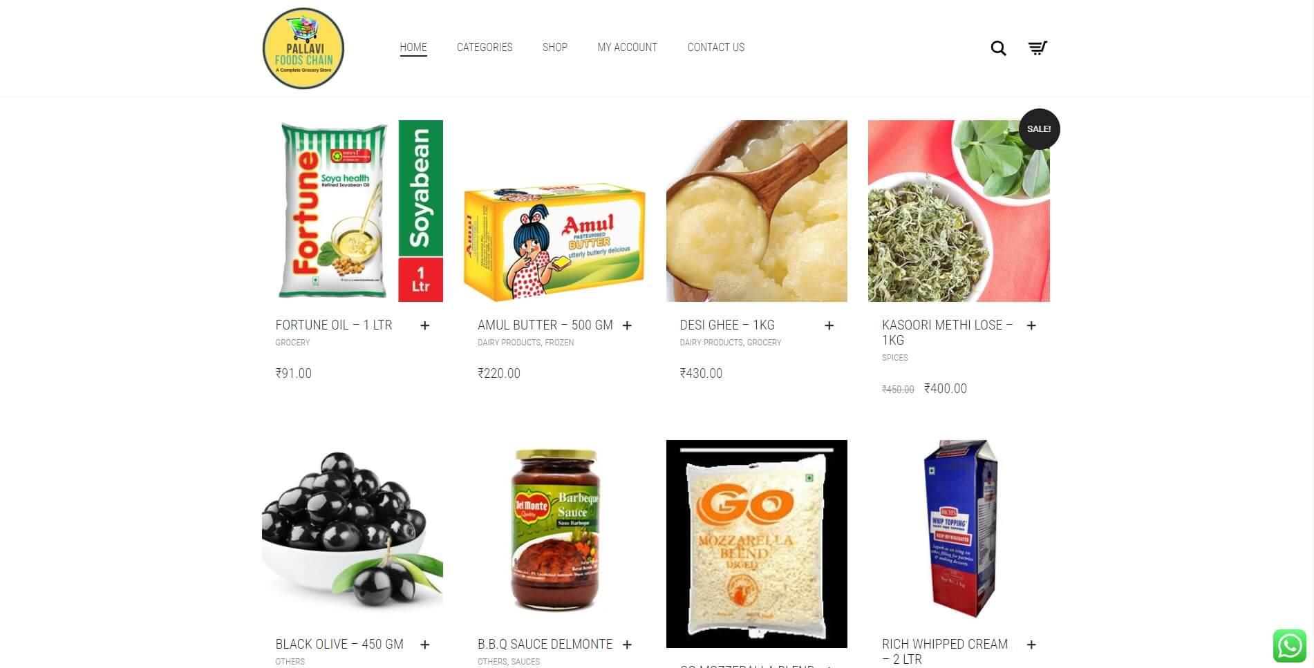 Pallavi Food Chain